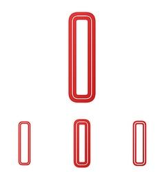 Red letter i logo design set vector
