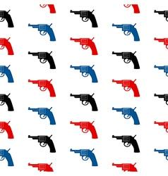 Revolver symbol seamless pattern vector image