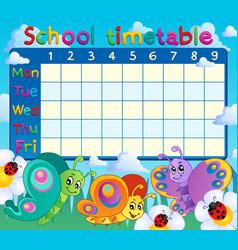 School timetable topic image 7 vector