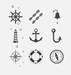 Sea Black Icon vector image