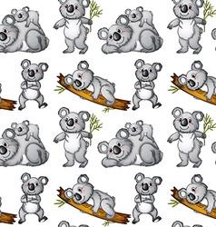 Seamless koala vector