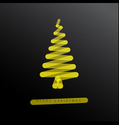 simple minimalistic christmas tree vector image