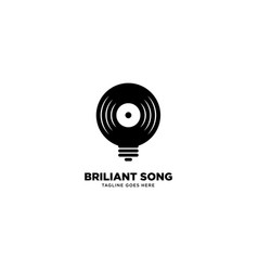 Smart music logo template icon element vector