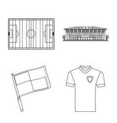 soccer and gear sign set vector image