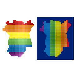 Spectrum pixel dotted chechnya map vector