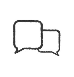 speech bubble speak icon vector image