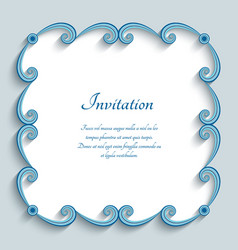 Square frame with swirly paper border vector
