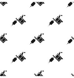 Tattoo machine icon black Single tattoo icon from vector