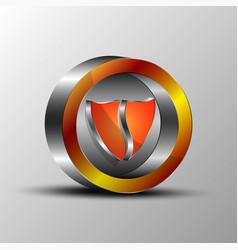 the shield emblemv vector image