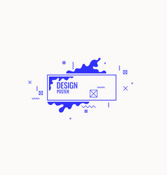 Trendy abstract art geometric background with flat vector