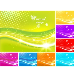 Urban spring design set vector