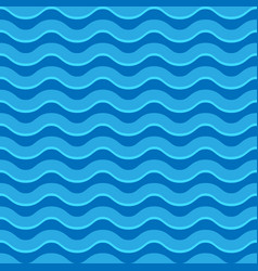 wavy lines seamless repeatable pattern in aqua vector image