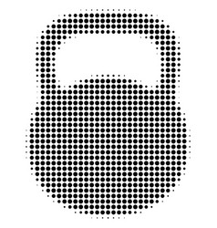 weight halftone icon vector image