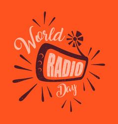 World radio day vector