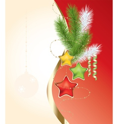 abstract xmas background vector image vector image