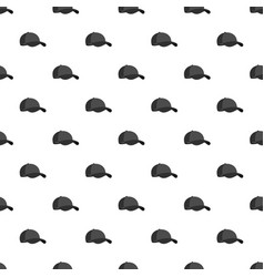 big baseball cap pattern seamless vector image vector image