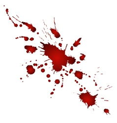 bloody blobs vector image vector image