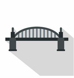 Bridge icon flat style vector