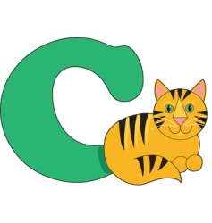 c is for cat vector image vector image