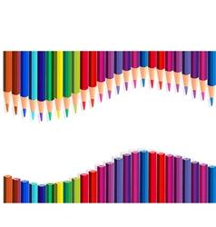 Color pencils wave vector image vector image