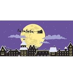 Night Santas Sleigh vector image vector image
