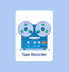 reel tape recorder icon on blue backgroundmodern vector image vector image