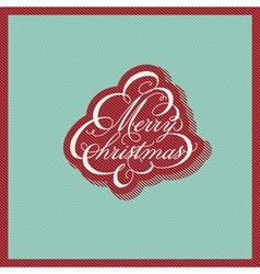Retro Christmas design vector image vector image