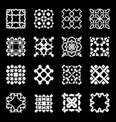 white square symbol vector image vector image