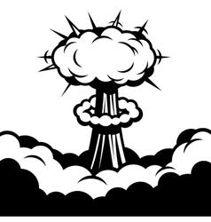 Comic boom icon explosion vector