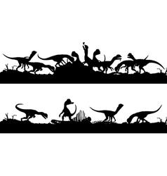Feeding dinosaurs vector image vector image