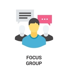 Focus group icon vector