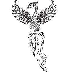 Phoenix tattoo tribal vector image