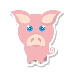 pig animal farm isolated icon vector image vector image