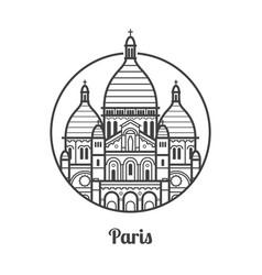 travel paris icon vector image vector image
