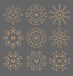 abstract line design company monogram set vector image vector image
