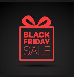 black friday sale red logo concept vector image