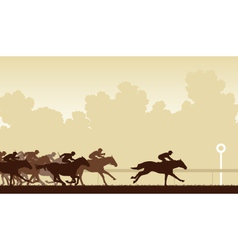 Horse race vector image vector image
