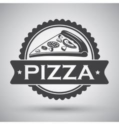 Pizza slice emblem vector image