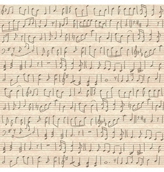 seamless old cardboard texture with music notes vector image vector image