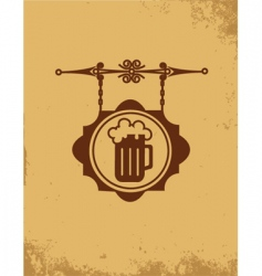 vintage bar sign post vector image vector image