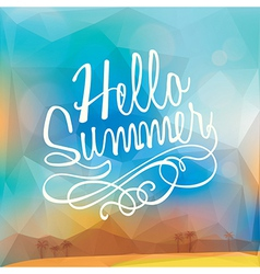 Abstract Summer holiday polygon poster background vector image vector image