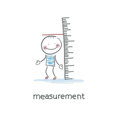 Measurement of growth vector image vector image