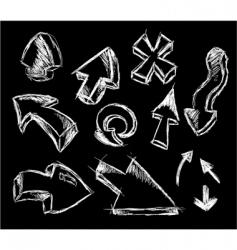 3d style sketch arrows vector
