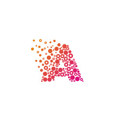 a particle letter logo icon design vector image