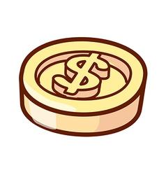 A simbol of dollar vector