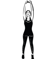 abstract fitness woman trained female body vector image