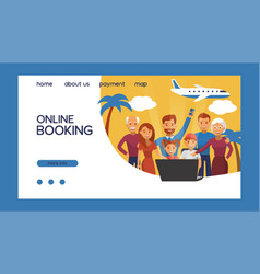 Airline tickets online booking vector