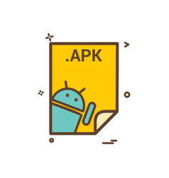 Apk application download file files format icon vector