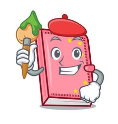 Artist diary character cartoon style vector