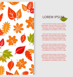 autumn leaves banner design - fall colorful vector image